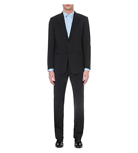 EMPORIO ARMANI Wool two-button suit (Navy
