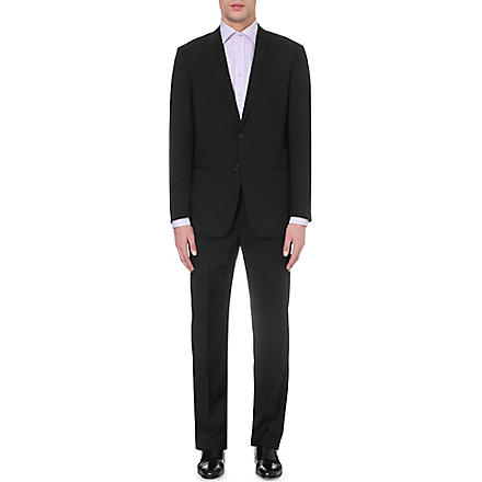 ARMANI COLLEZIONI Giorgio single-breasted wool suit (Black