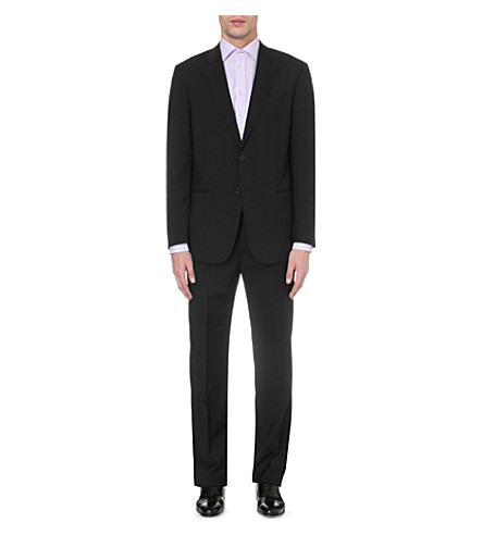EMPORIO ARMANI Giorgio single-breasted wool suit (Black