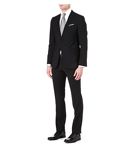 EMPORIO ARMANI Virgin wool single-breasted suit (Black