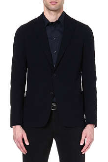 ARMANI COLLEZIONI Single-breasted stretch-crepe blazer