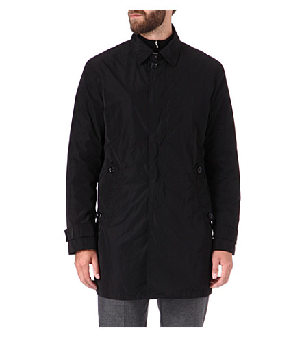 ARMANI Tailored raincoat (Black