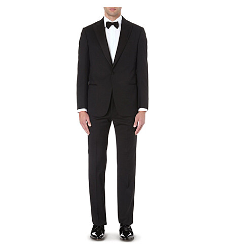EMPORIO ARMANI Formal wool tuxedo (Black