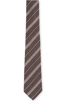 ARMANI Checkerboard stripe silk tie