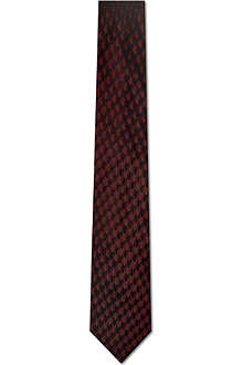 ARMANI Scaled pattern silk tie