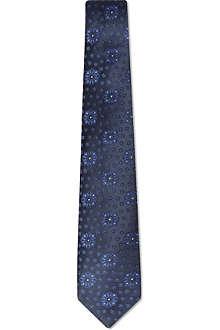 ARMANI COLLEZIONI Floral effect silk tie