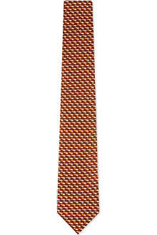 ARMANI COLLEZIONI Bi-colour dashes silk tie
