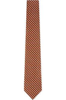 ARMANI COLLEZIONI Bi-colour dashes silk tie