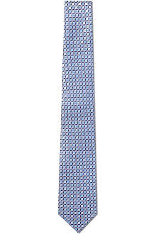 HUGO BOSS Circle and dot silk tie