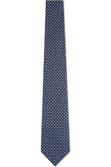 ARMANI Diamonds and dots silk tie