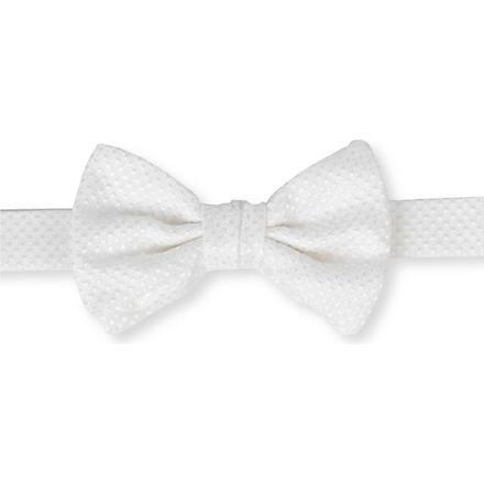 ARMANI COLLEZIONI Textured silk bow tie (White