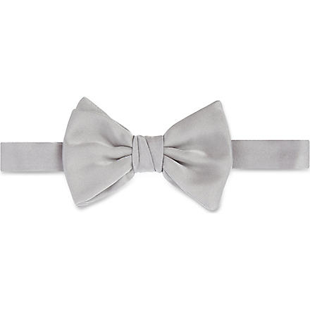 ARMANI Silk bow tie (Grey