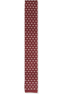 ARMANI Knitted dash-pattern tie