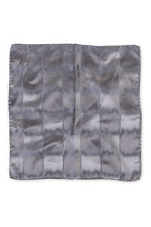 ARMANI Swirl-effect silk pocket square