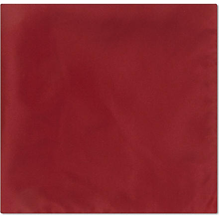 ARMANI Solid silk pocket square (Red