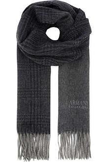ARMANI COLLEZIONI Cashmere logo scarf