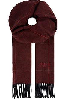 ARMANI COLLEZIONI Herringbone overcheck scarf