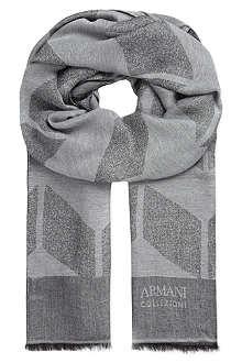 ARMANI COLLEZIONI Chevron scarf
