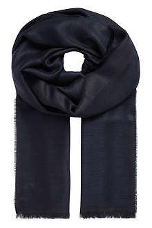 ARMANI COLLEZIONI Bordered modal-blend scarf