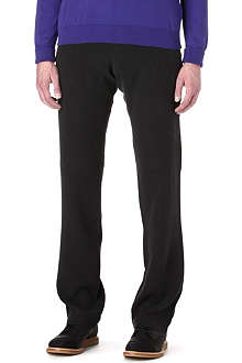 ARMANI Textured roll-press trousers
