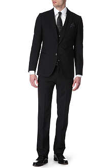 ARMANI Metropolitan three-piece silk-striped suit