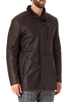 ARMANI Shearling jacket with three-quarter zip