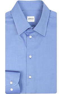 ARMANI Modern-fit single-cuff shirt