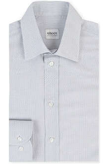 ARMANI Printed modern-fit single-cuff shirt