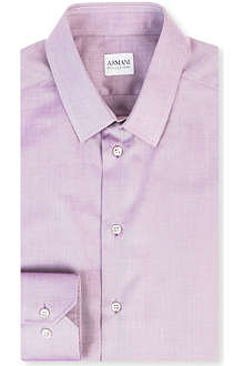 ARMANI Slim-fit single-cuff shirt