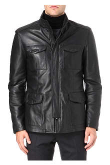 ARMANI COLLEZIONI Leather field jacket