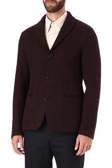 ARMANI Shawl collar heavy wool blazer