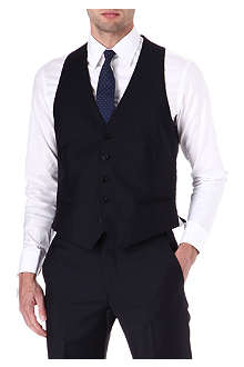 ARMANI Wool and mohair-blend waistcoat