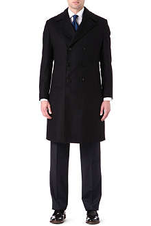 ARMANI Double-breasted overcoat
