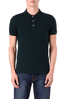 ARMANI Slim pique cotton polo shirt