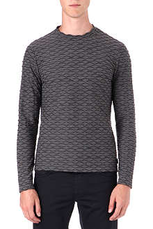 ARMANI Puckered jersey top