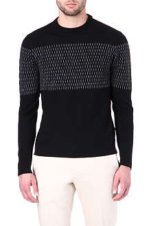 ARMANI Diamond-intarsia jumper