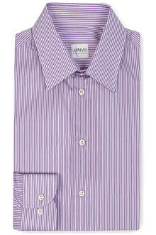 ARMANI Striped single cuff shirt
