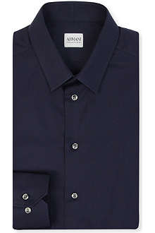 ARMANI Slim-fit single cuff shirt