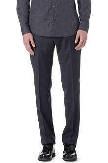 ARMANI COLLEZIONI Crosshatch wool trousers