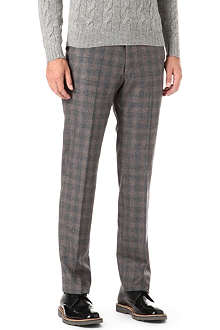 ARMANI Formal ombre check trousers