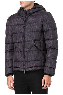 ARMANI Printed hooded bomber jacket