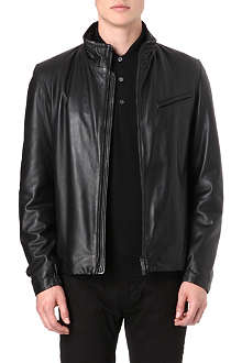 ARMANI Leather biker jacket