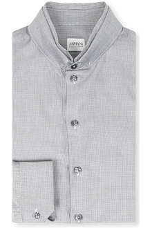 ARMANI Double collar textured shirt