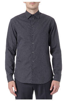 ARMANI Small point herringbone print shirt