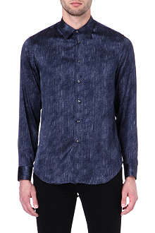 ARMANI Faded stripe print single cuff shirt