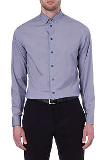 ARMANI Double collar modern fit single cuff shirt