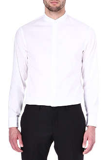 ARMANI Grandad-collar modern-fit shirt