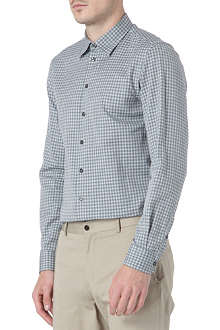 ARMANI COLLEZIONI Small point gingham casual shirt