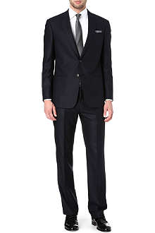 ARMANI Single-breasted herringbone stripe suit