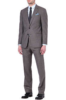 ARMANI Herringbone pinstriped suit